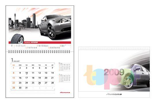Календари от Aurora (Шины). Покрышка K109. Январь 2009 года