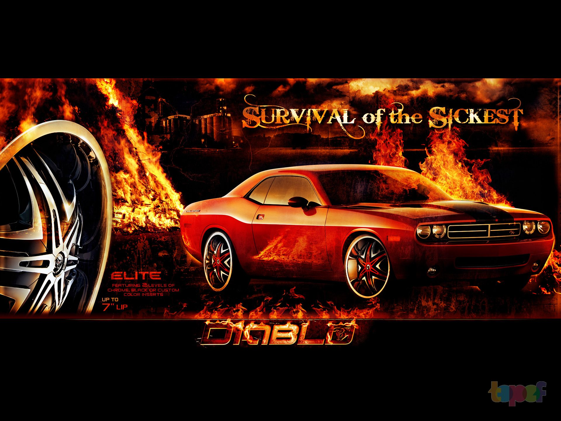 Обои от Diablo (Колесные диски)