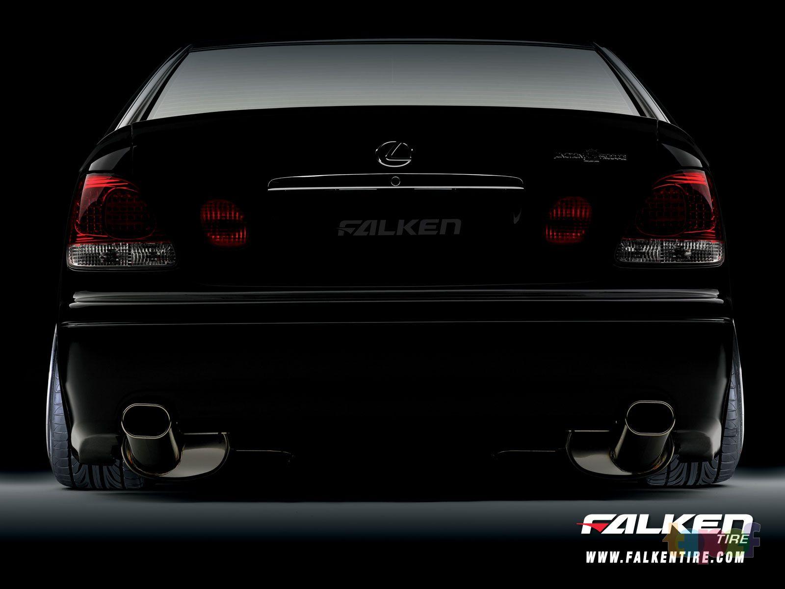 Обои от Falken (Шины). На Lexus'е GS300