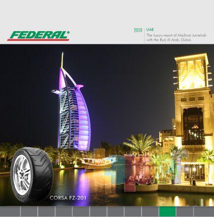 Календари от Federal (Шины). Октябрь 2010 года. Объединенные Арабские Эмираты