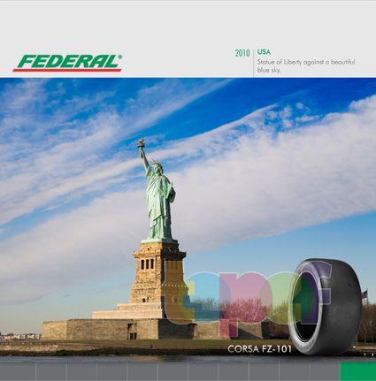 Календари от Federal (Шины). Декабрь 2010 года. США