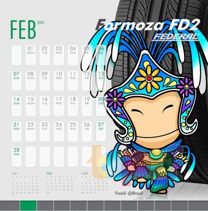 Календари от Federal (Шины). Февраль 2010 года