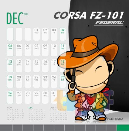 Календари от Federal (Шины). Декабрь 2010 года