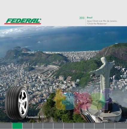 Календари от Federal (Шины). Февраль 2010 года. Бразилия