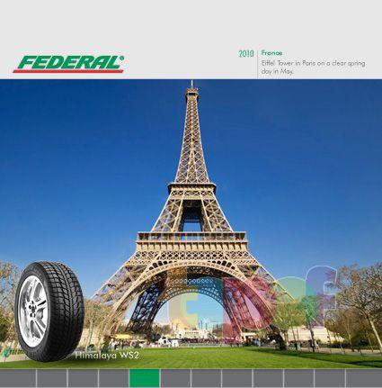 Календари от Federal (Шины). Май 2010 года. Франция