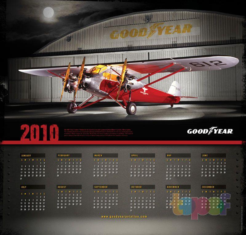 Календари от Goodyear (Шины). Календарь на 2010 год
