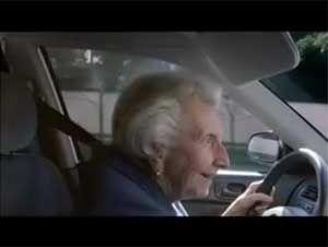 Видео от Goodyear (Шины). Вирусное видео про старушку