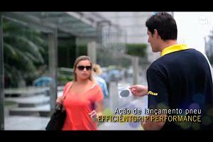 Видео от Goodyear (Шины). Маркетинговый ход с наклейками на подошвы