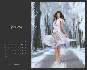 Календари от KAMA (Шины). Январь 2006 года