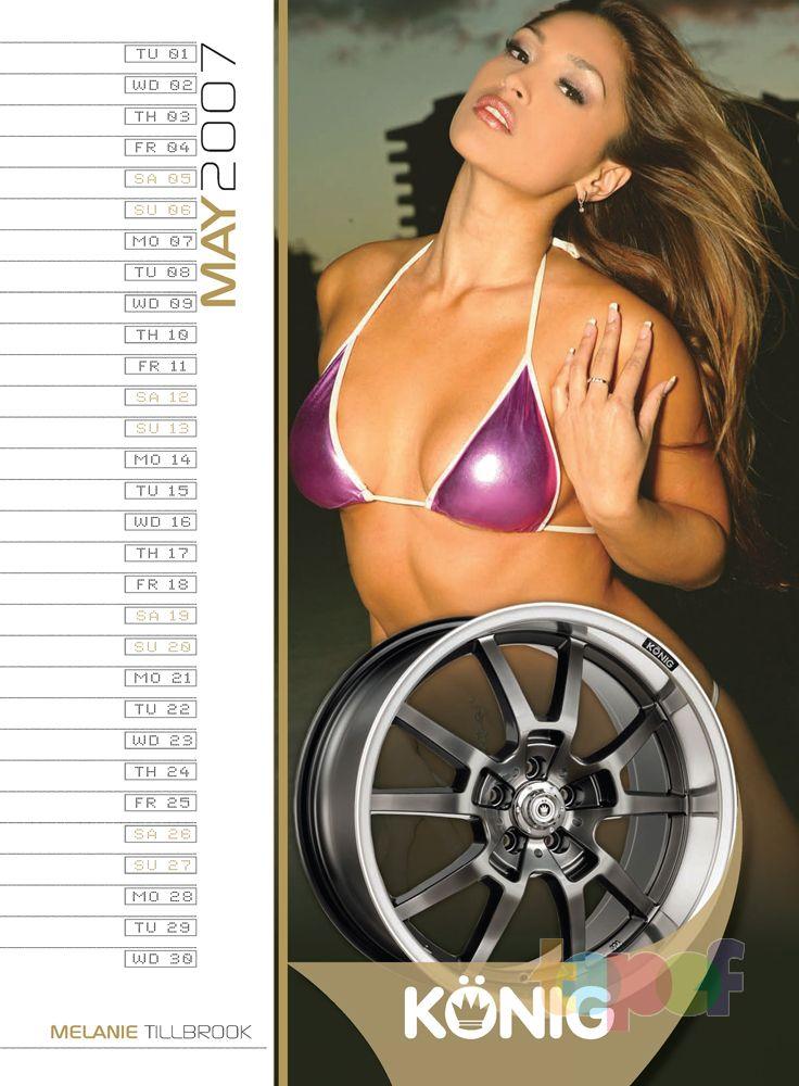 Календари от Konig (Колесные диски). Май 2007 года. Melanie Tillbrook