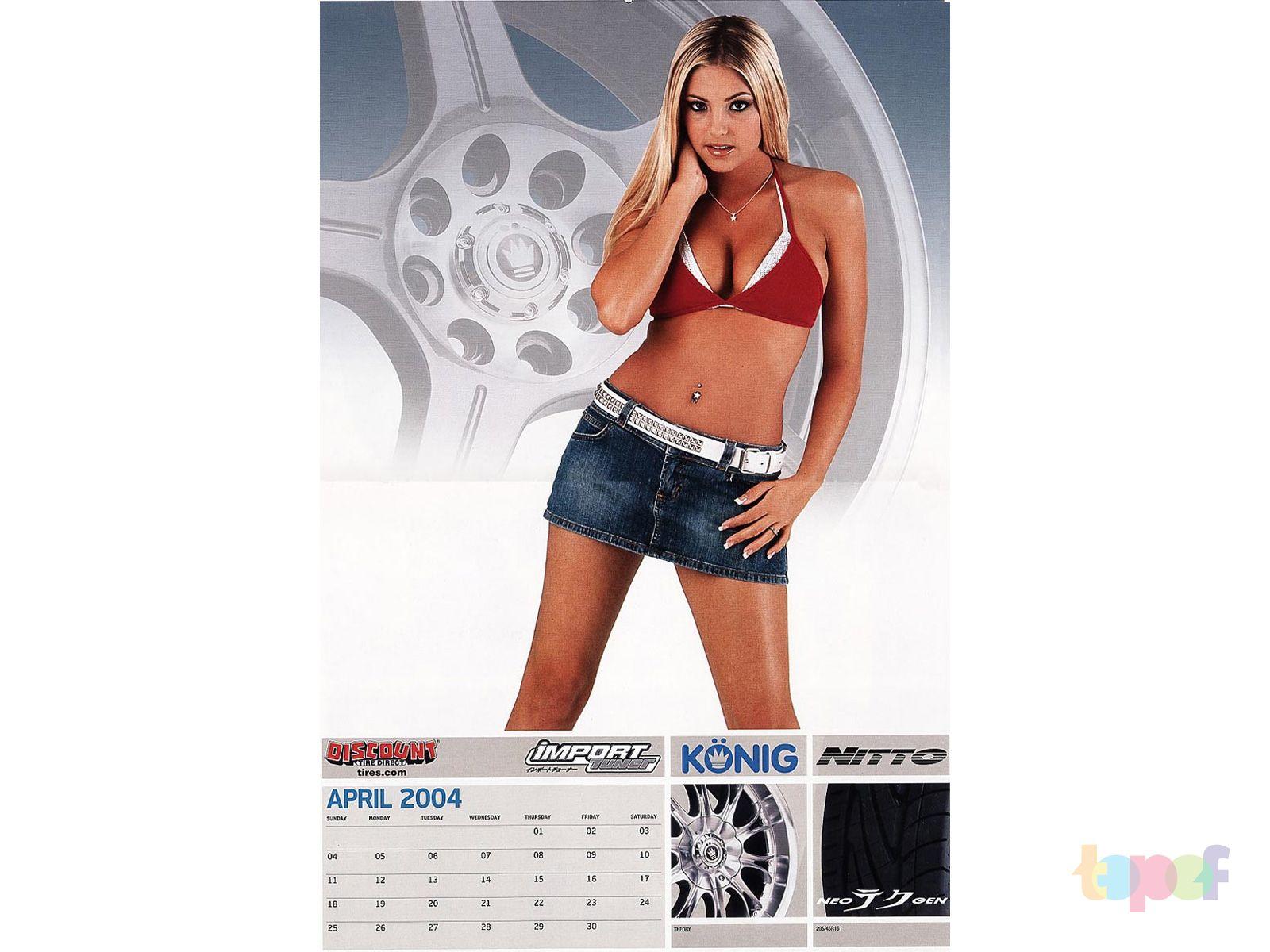Календари от Konig (Колесные диски). Апрель 2004 года