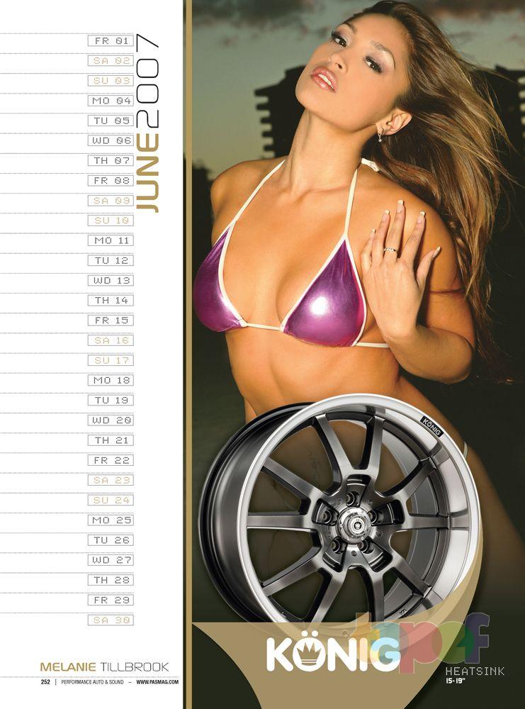 Календари от Konig (Колесные диски). Июнь 2007 года. Melanie Tillbrook