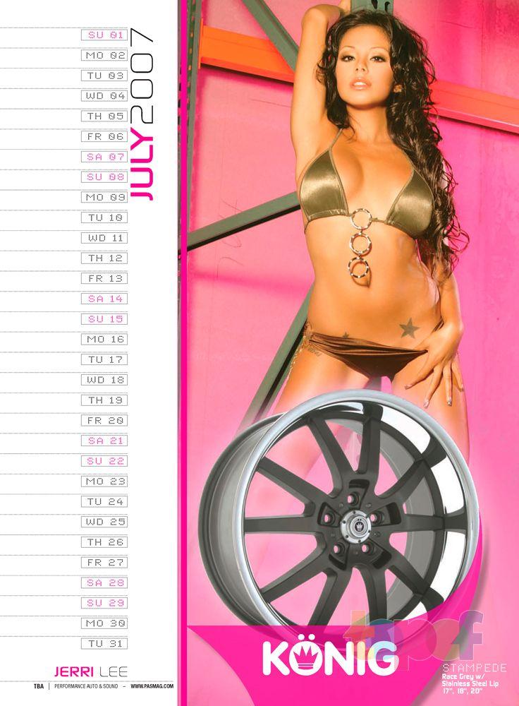 Календари от Konig (Колесные диски). Июль 2007 года. Jerri Lee