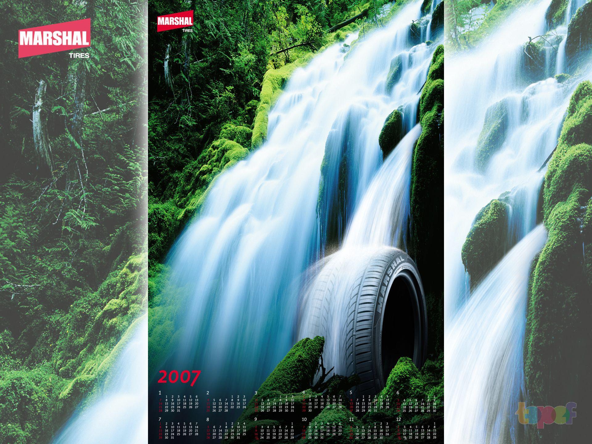 Календари от Marshal (Шины). 2007 год