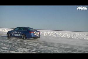 Видео от Nokian (Шины). Установлен рекорд скорости на зимних шипованных шинах