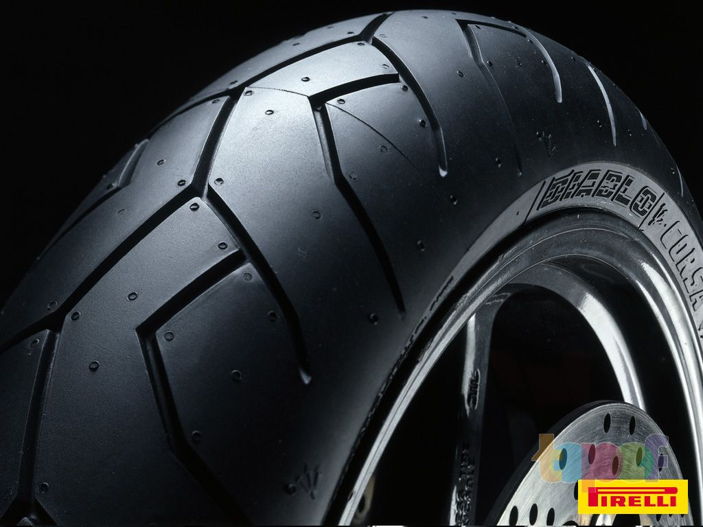 Обои от Pirelli (Шины). Передняя покрышка