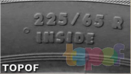 Маркировка INSIDE асимметричных шин