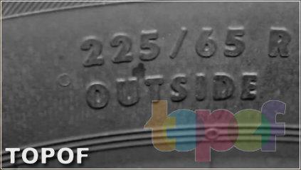 Маркировка OUTSIDE асимметричных шин