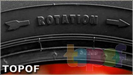 Маркировка ROTATION направленных шин