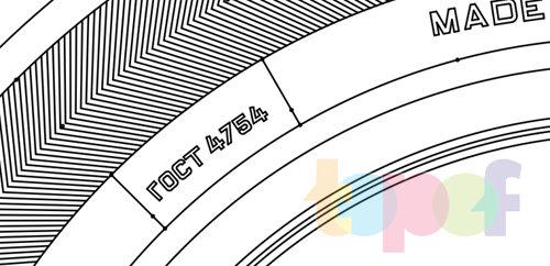 Маркировка шин. Обозначение нормативного документа ГОСТ
