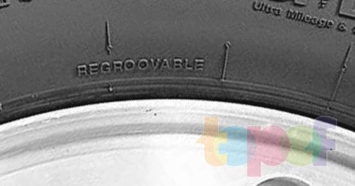 Маркировка шин. Обозначение Regroovable