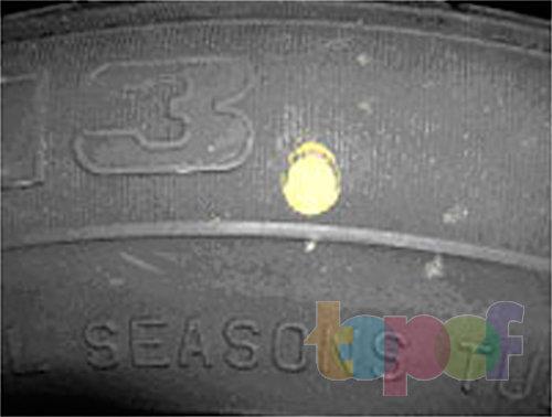 Маркировка шин. Балансировочная метка (круг, пятно или точка желтого цвета)