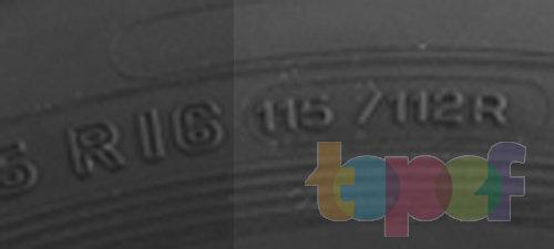 115/112 - двойной индекс несущей способности, R - категория скорости