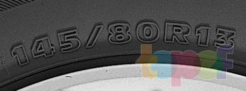 Типоразмер шин, где 145 - ширина профиля шины, 80 - серия, R - конструкция корда, 13 - посадочный диаметр шины