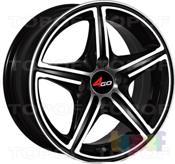 Колесные диски 4GO YQ8. Изображение модели #1