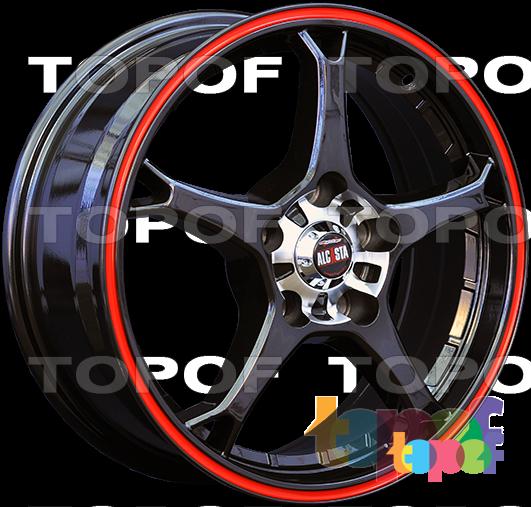 Колесные диски Alcasta M11. Цвет черный с красным ободом