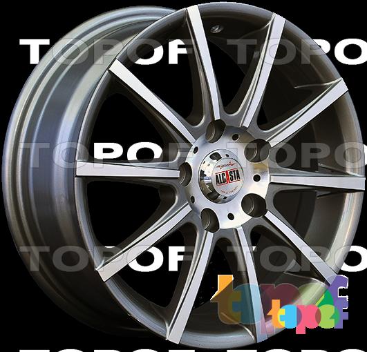 Колесные диски Alcasta M12. Цвет серый матовый полированный