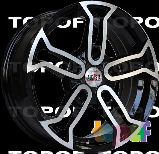 Колесные диски Alcasta M18. Цвет полированный черный