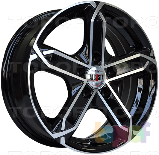 Колесные диски Alcasta M19. Цвет BKF