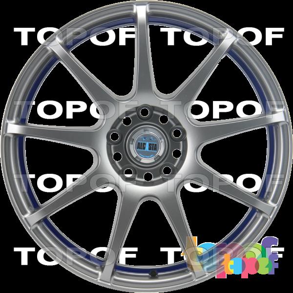 Колесные диски Alcasta M29. Цвет серый матовый полированный и с полосой на внутренней стороне обода