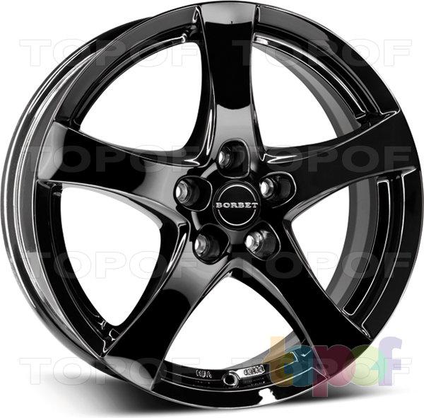 Колесные диски Borbet F. Модель 2012 года. Цвет - черный глянцевый