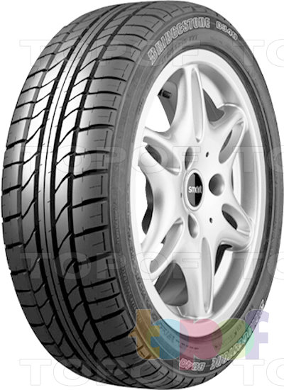 Шины Bridgestone B340. Плечевая зона шины