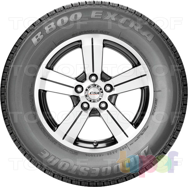 Шины Bridgestone B800 Extra. Вид сбоку