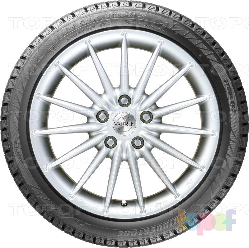 Шины Bridgestone Blizzak Revo 2. Вид сбоку