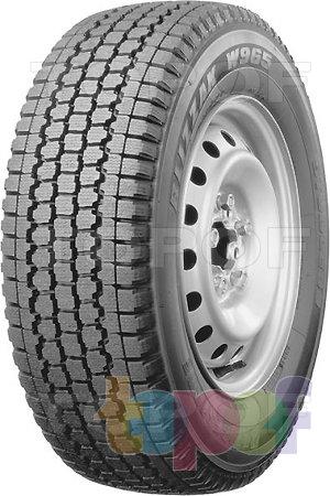 Шины Bridgestone Blizzak W965 Multicell. Плечевая зона шины