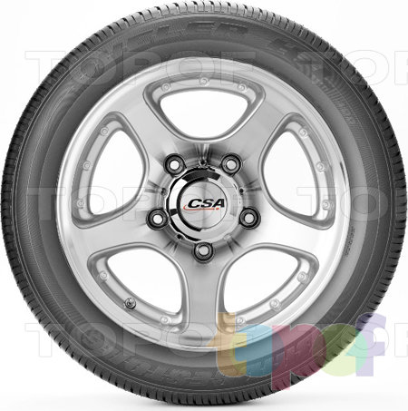Шины Bridgestone Dueler H/L 400. Боковая стенка