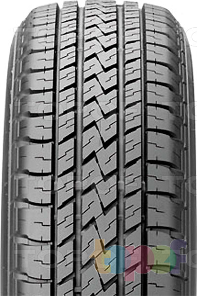 Шины Bridgestone Dueler H/L 683. Продольные канавки на протекторе