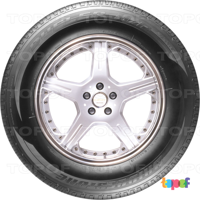 Шины Bridgestone Dueler H/P Sport. Плечевая зона шины