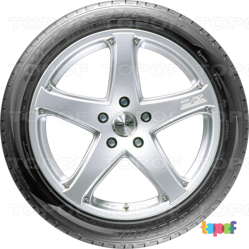 Шины Bridgestone Dueler H/P Sport. Вид сбоку