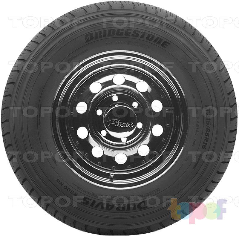 Шины Bridgestone Duravis R500 HD. Боковая стенка