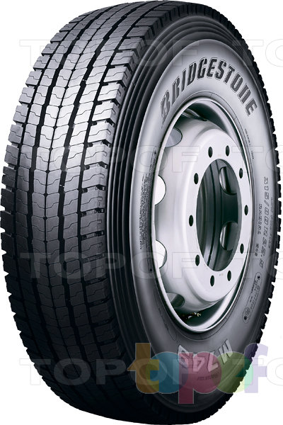 Шины Bridgestone M749. Шина для ведущей оси
