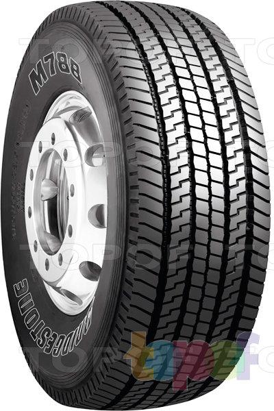 Шины Bridgestone M788. Рисунок протектора при типоразмере шины 385/65R22.5