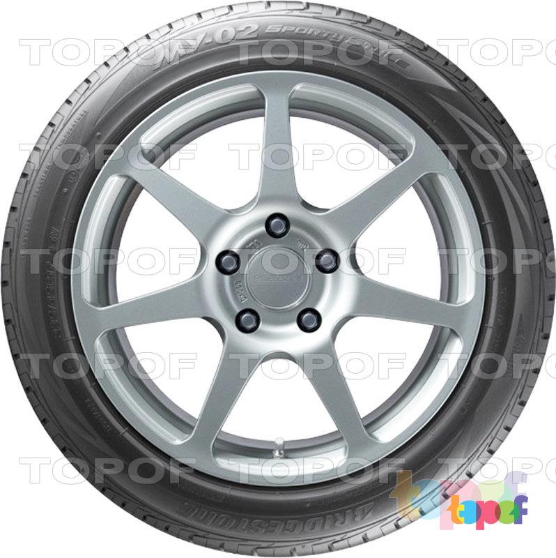 Шины Bridgestone MY-02 Sporty Style. Вид сбоку