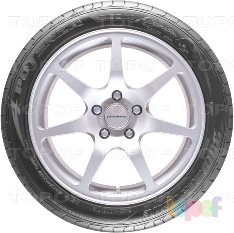Шины Bridgestone Potenza RE001 Adrenalin. Вид сбоку