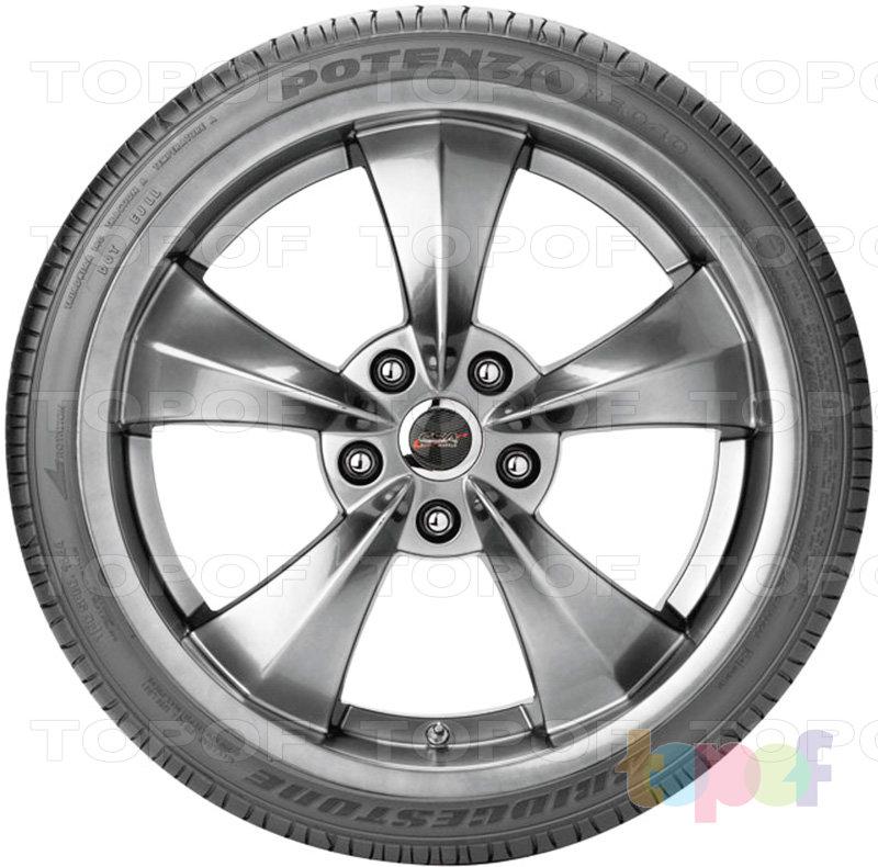 Шины Bridgestone Potenza RE040. Вид сбоку