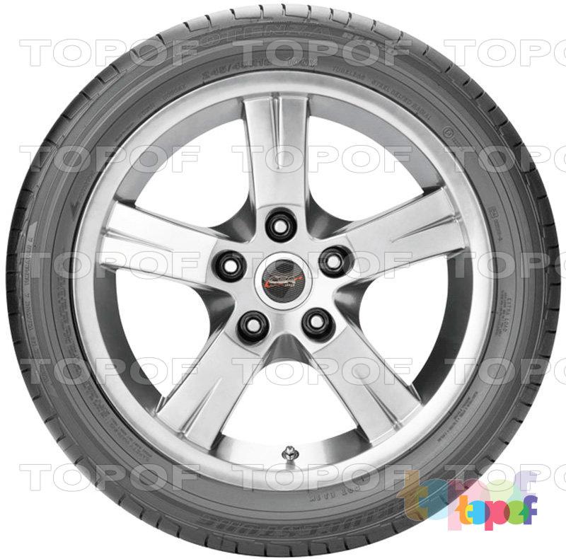 Шины Bridgestone Potenza RE050. Боковая стенка шины